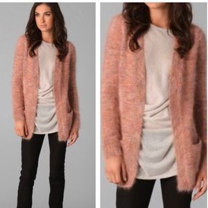 Theory Angora Cardigan Scotia Chunky New Cloud